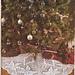 Christmas pointsettias tree skirt pattern