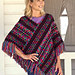Embroidery Print Poncho pattern