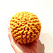 Loom knitted ball pattern