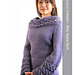 1458 Patterned collar and cuff pullover pattern