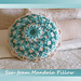 Sea-Foam Mandala Pillow pattern