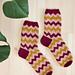 268-4 Sikksakksokker pattern