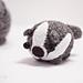 Amigurumi badger crochet pattern pattern
