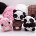 Pandas and bears amigurumi pattern pattern