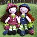 Strawberry Sally and Blueberry Blythe pattern