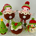 Christmas Pudding People pattern