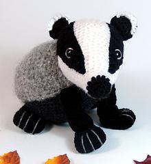 Bradley the Badger Amigurumi Crochet Pattern   Etsy   240x220