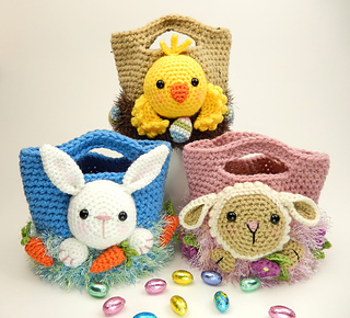 Easter Treat Bags Bunny And Lamb Pattern By Moji Design
