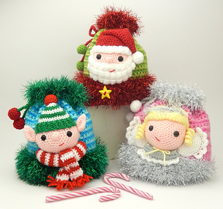 Elf Christmas Gift Bags.Christmas Gift Bags Elf Santa And Angel Pattern By Moji Moji Design