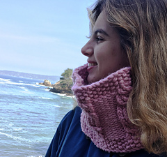 Short cowl in Lion Wool-Ease Thick & Quick