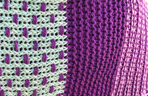 Detail of basketweave section