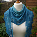 Dancing waves shawl pattern