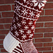 Falling Snow Stocking pattern