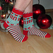 Ho Ho Ho Christmas Socks pattern
