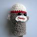 Sock Monkey Finger Puppet pattern