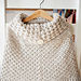 Poncho with oversized collar pattern