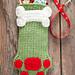 Dog Paws Christmas Stocking pattern