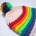 Rainbow Cloud Hat. pattern