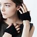 Rib Knit Half Gloves pattern
