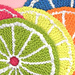 Fruit Citrus Slice Dishcloth pattern