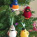 Four Calling Birds Ornaments pattern
