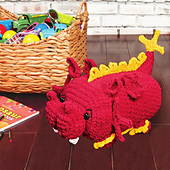 Draco Dragon from Cuddly Crochet Critters
