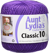 154-15 Aunt Lydia/'s Classic Crochet Thread Size 10-Shades Of Pink