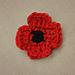 A Crochet Remembrance Poppy pattern