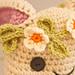 crochet daisy chain headband with magic loop tutorial pattern