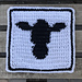 Cow Face Dishcloth & Towel pattern