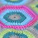 Le coussin Hexagone pattern
