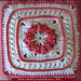 """Shore Cables 9"""" afghan block pattern"""