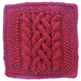 """Ship to Shore 9"""" Knit Cabled Afghan Block pattern"""
