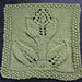 "Turn Over a Leaf Tulip 9"" afghan block dishcloth pattern"