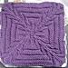 "Crossed Purposes 9"" Knit Afghan Block Square pattern"