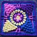 "Winter Sun 9""/12"" Crochet Block Afghan Square pattern"