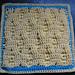 """Puff Wheat Fields 12"""" Afghan Block pattern"""