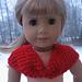 American Girl Bow Shrug Shawl Scarf pattern