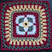 """Tie a Yellow Ribbon 12"""" Afghan Block Square pattern"""