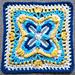 """TipToes 12"""" Afghan Block Square pattern"""