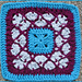 "Beauty In Excellence 9""/12"" Afghan Block Square pattern"