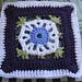 """Annabelle Iris Afghan Block 9"""" pattern"""