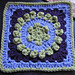 "Dog Days Afghan 9"" Beginner Block with 7"" Hexagon pattern"