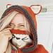 Rene fox hooded cowl pattern
