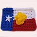 Texas Flag/Yellow Rose Ornament pattern