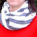 Diagonal Stripes Cowl pattern