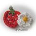Strawberry and flower - Erdbeere und Blüte pattern