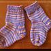 Toe Up Heel Flap Baby Socks pattern