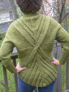 Back of Architectural Rib Pullover