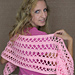 Awareness Ribbon Prayer Shawl or Wrap pattern